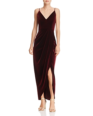 Aqua Velvet Faux Wrap Dress 100 Exclusive Burgundy 31RpeGcBCM