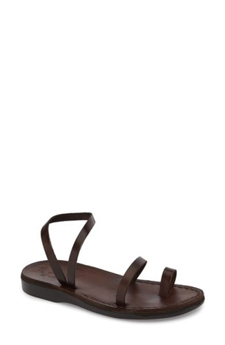 Jerusalem Sandals Ella Sandal Brown Leather PxJk0MNXY