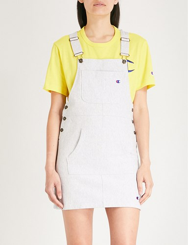 Champion Embroidered Logo Cotton Blend Dungaree Dress Loxgm mQIXhrOpUk