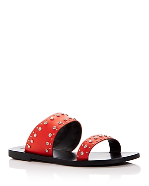 Stud Slide Embellished Sandals Flame Sana Starlight Women's Sol Leather A4qnw1UfnW