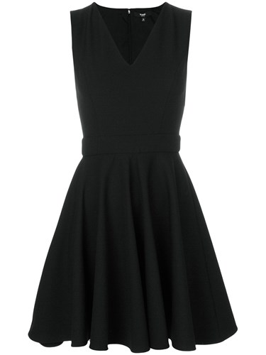 Versus V Neck Sleeveless Mini Dress Polyester Viscose Spandex Elastane Polyamide Black TL4WYGdYL