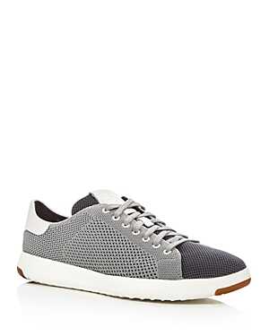 Cole Haan Grandpro Tennis Stitch Lite Knit Lace Up Sneakers Magnet Gray H4Nng