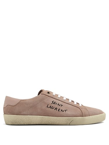 Saint Laurent Court Classic Low Top Suede Trainers Grey yDa6ns00