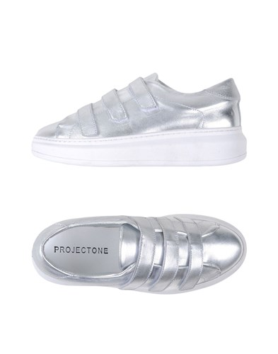 PROJECT ONE Footwear Low Tops And Trainers Women Silver p27eyM58Oo
