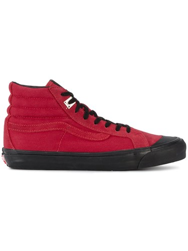 Alyx Vans Og 138 Lx High Top Sneakers Leather Canvas Rubber Red nVhBa5