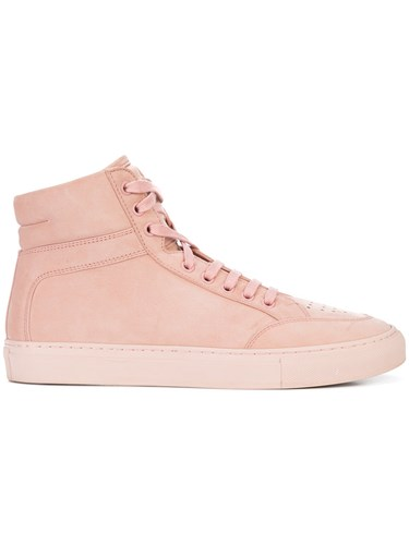 Koio Primo Rosa Hi Top Sneakers Calf Leather Nubuck Leather Foam Rubber Pink Purple 6dU0HT