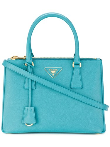Blue Medium Prada Galleria Leather Tote Calf AAXwO