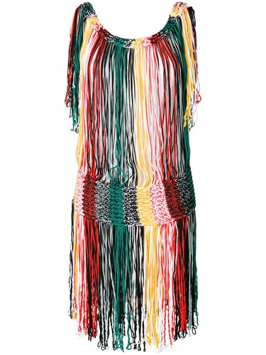 Multicolour Sonia Knit Rykiel Fringe Dress q77f0Iaw