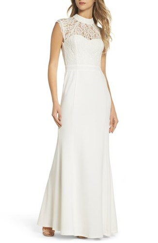 Lulus 'S Lace Bodice Mermaid Gown White QYnihFt