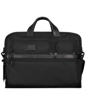 Tumi Alpha 2 Compact Large Screen Laptop Briefcase Black 9cLSt3