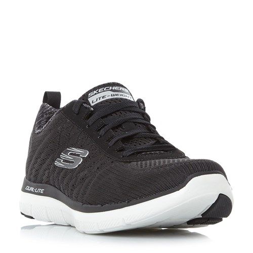 Skechers Flex Ad 2.0 Flat Knit Trainers Black GZmKe