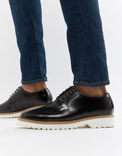 Ben Sherman High Shine Lace Up Shoes In Black Leather cxzGv5autB