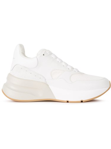 White Lace Chunky Sneakers Sole Alexander Up McQueen anZYxx6p