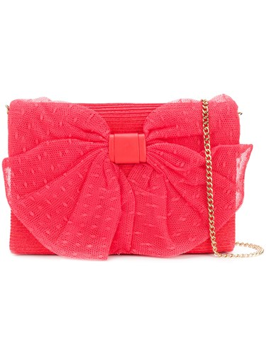 RED Valentino Bow Detail Shoulder Bag Pink And Purple aDdxj