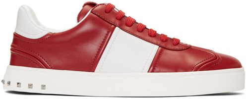 Valentino Red And White Garavani Fly Crew Sneakers r0vn5C0KOb