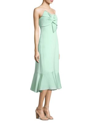 Prose & Poetry Jodhi Strapless Bow Dress Mint Green ToIaqRk