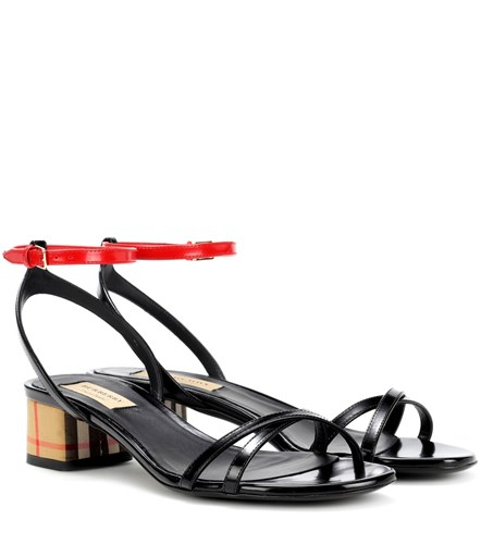 Burberry Leather Anthea Multicoloured Burberry Burberry Anthea Multicoloured Leather Sandals Sandals Anthea OcOAFUqrPn