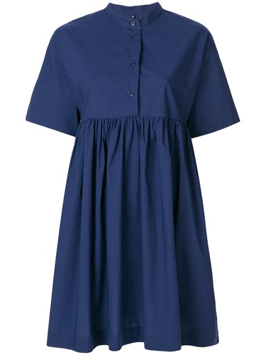 Woolrich Shift Mini Dress Blue tEx7W5