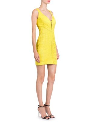 Versace Embellished Cocktail Mini Dress Yellow fo8Bzfay8