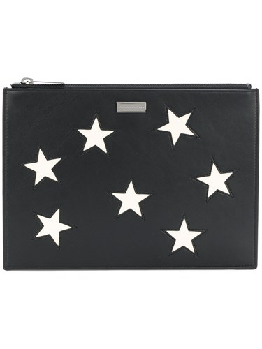 Stella McCartney Stars Clutch Bag Black kZAf1
