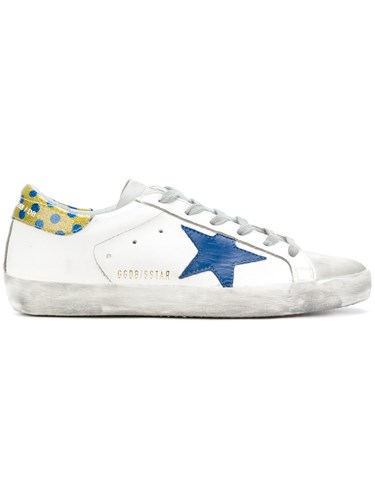 Golden Goose Deluxe Brand Superstar Stella Sneakers Leather Suede Rubber Cotton White EWBkbgzC