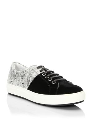 Madison Supply Snake Print Low Top Sneakers Black CZQGNOT