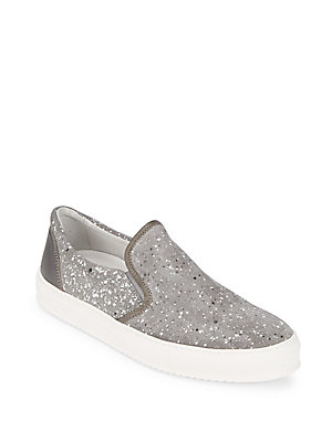 Bugatchi Suede Slip On Sneakers Metal gXWvTuiVD