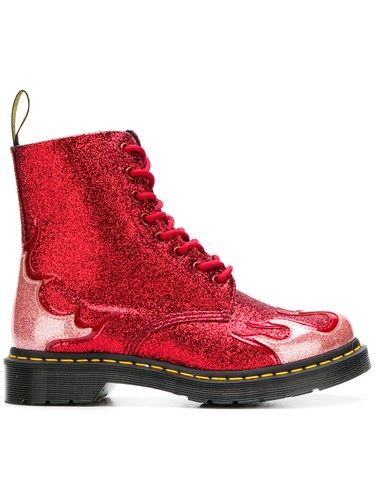 Dr. Martens 1460 Pascal Flame Boots Red ADIBFcaCKw