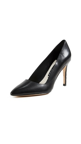 Olivia Alice Dina Pumps Point Black Toe Rqxdqr