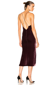 Dion Lee Velvet Fine Line Cami Dress In Purple PJtrA8tg