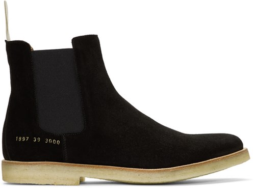 Common Projects Black Suede Chelsea Boots Ov4YH6RKcr