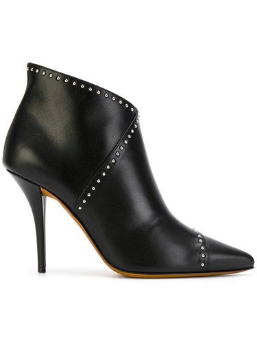 Givenchy Studded Pointed Boots Calf Leather Leather Black utGF6S7