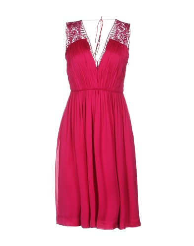Length Deane Dresses Catherine Knee Fuchsia qY7TF