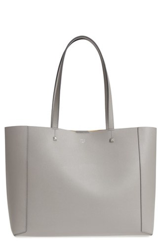 MCM Ilse East West Leather Shopper Grey Arch Grey FbE85