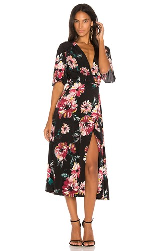 1.State Wrap Front Maxi Dress Black Uc6koLpry