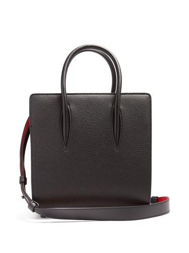 Christian Louboutin Paloma Small Leather Tote Black OZrZcG