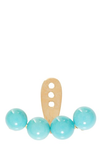 Turquoise Earring Y Gold