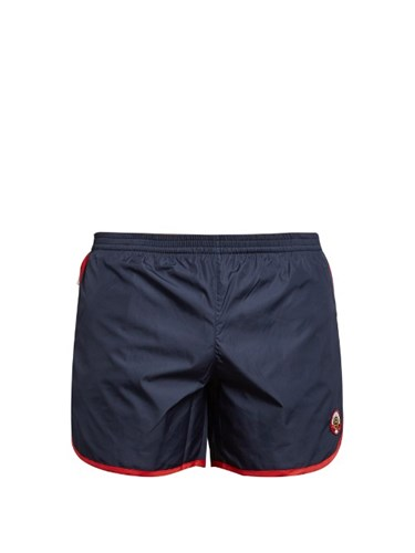 Cambridge Long Swim Shorts Navy Multi