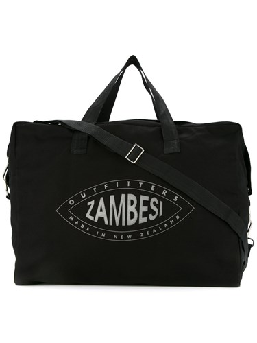 Cotton Print Logo Bag Black Zambesi Holdall Fw1x4Fn