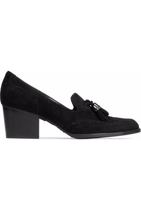 Weitzman Tasseled Loafers Thing Girl Stuart Black Suede gdtqUwzx
