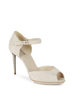 Giorgio Armani Pin Buckled D'orsay Pumps Alabastro G57JVM