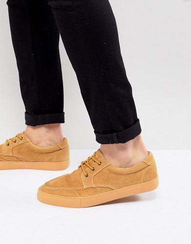 Asos Boat Shoes In Stone Cord y0YSG7
