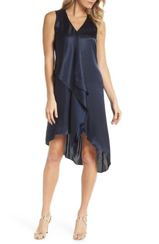 Sleeveless Adrianna Dress Blue Moon Trapeze Asymmetrical Papell zzEwCFq