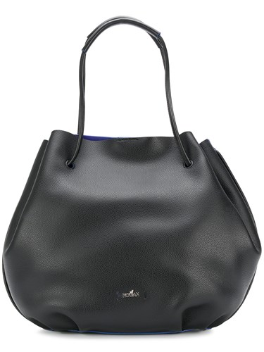 Hogan Pebbled Shoulder Bag Black 2vcP1ux