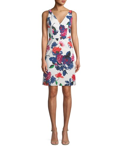 Milly Sandrine Floral Print Mini Dress Multi LsCZyVZ