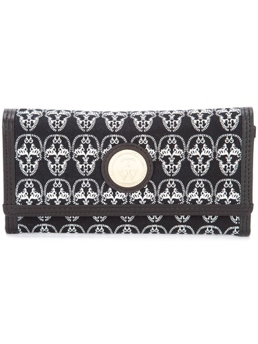 Thomas Wylde Skulls Envelope Clutch Women Cotton Leather One Size Black 3HtNfr