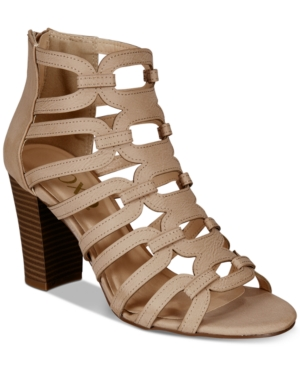 XOXO Bloomington Dress Sandals Caged Beige aYxqHa4