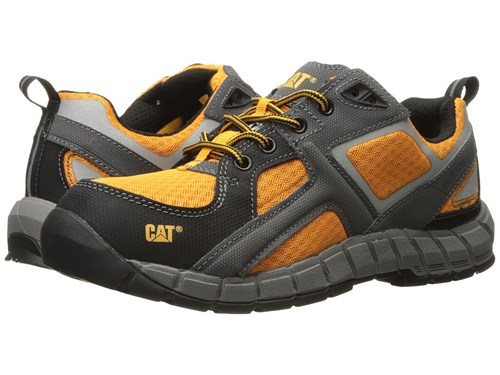 Gunmetal Gain Black Steel Marigold Yellow Caterpillar Toe Lace Casual Shoes Up Bright Men's qIR6nwtd