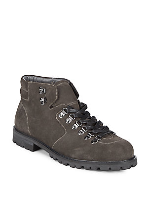 Saks Fifth Avenue Laramie Suede Ankle Boots Grey EEunKRQnRy