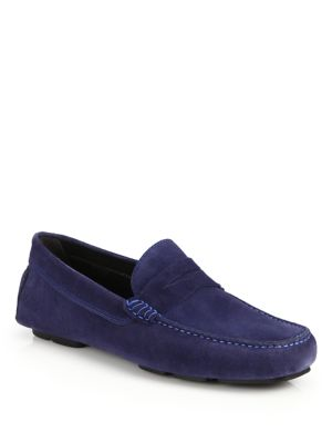 To Boot Ashton Contrast Stitch Suede Drivers Wine HLnNCV